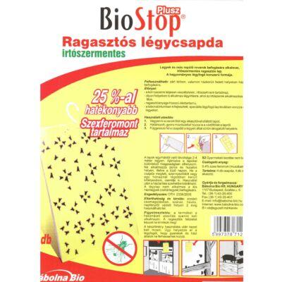 Bio Stop Ragsztós légycsapda   4 db